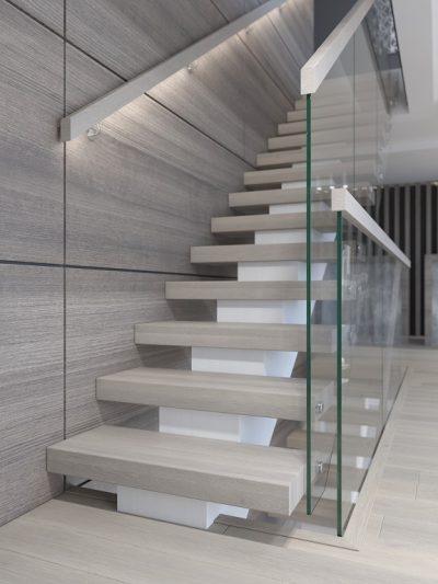 Modern trapp med massive trinn. Xtrapp modell X07