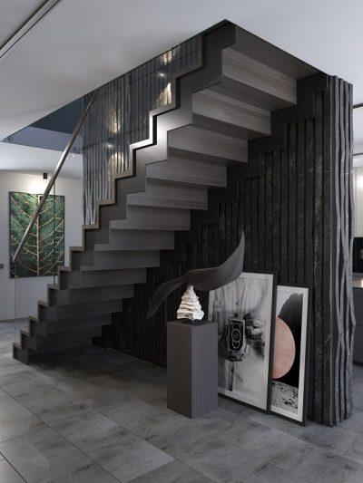 Innendørs trapp modell X10. xtrapp